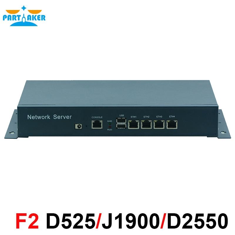 Fanless Mini PC with 4 Gigabit LAN Ports pfSense Firewall Router Quad core mini firewall Bay Trail j1900 2.42 GHz wtitech win8 32 quad core intel bay trail t z3770 mini desktop pc host w wi fi bluetooth yellow