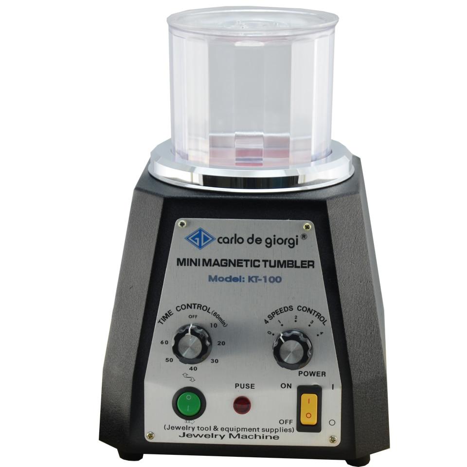 KT-100 Magnetic Tumbler 220V Magnetic Polishing Machine Jewelry Polishing & Finishing Tool Equipments