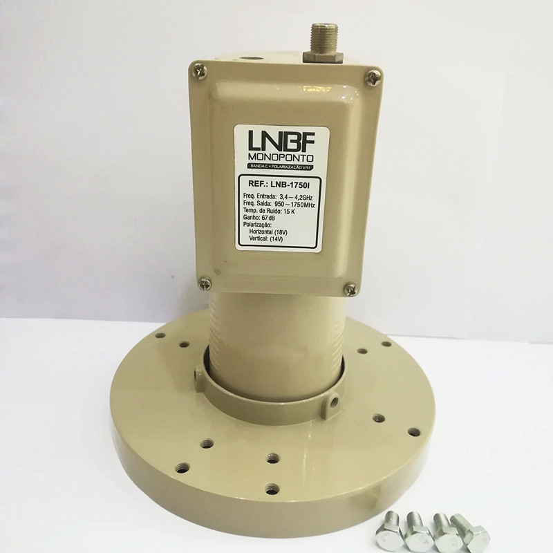 Super Low Noise C Band Lnbf Single Output Dual Polarity Full Hd 1080p Lnb C Band Waterproof