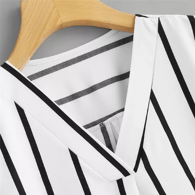 Stripe Shirt Women's Tops And Blouses  4