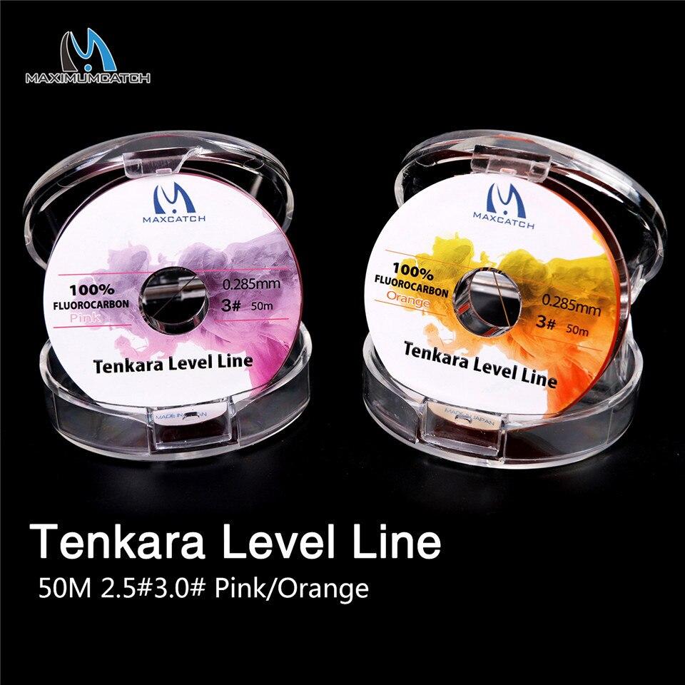 Maximumcatch Tenkara Ebene Linie 50 mt 2,5 #/3,0 # Fluor Rosa/Orange Tenkara Fliegen Angelschnur