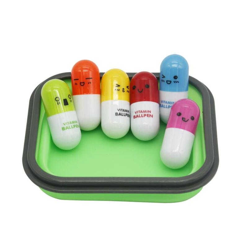 Таблетки ручка 0.5 мм шариковая ручка шариковая Ручка Милый Kawaii Улыбка Лицо капсула Творческий Канцелярские подарок для детей школа Управления питания