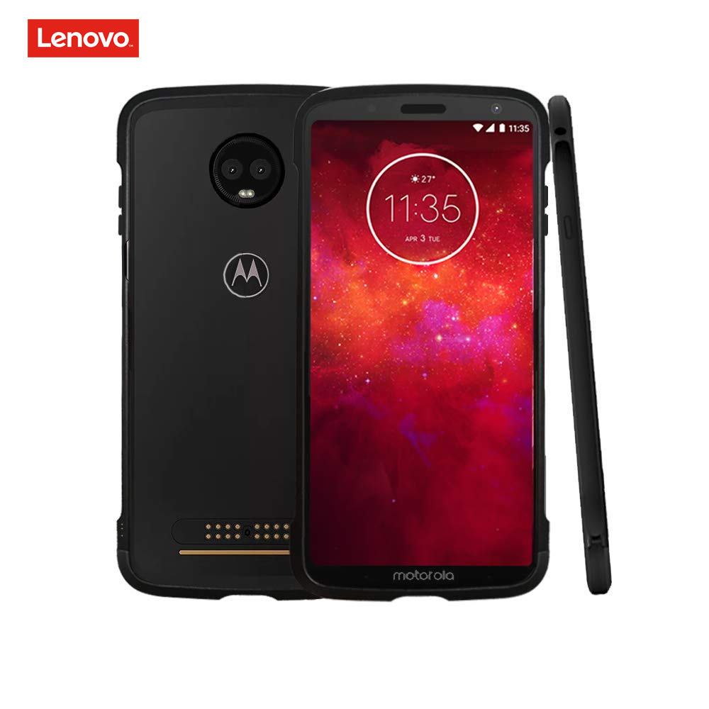Moto Z3 Play Case, Lenovo Original Aluminum Metal Bumper Anti-Scratch Shockproof Compatible With Moto Mods Protective Case For M