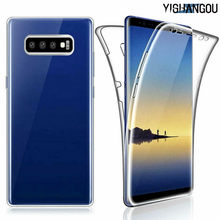 360 Derajat Full Body Cover Lembut TPU Case untuk Samsung Galaxy S10 Plus S10e S9 S8 S6 S7 Edge Note 8 9 A6 A7 A8 2018 J8 J4 J6 Perdana(China)