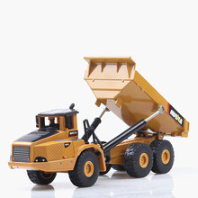 Ant 1:50 toy car dump truck toy car model alloy engineering vehicle model simulation car toy hinged dump truck cat caterpillar ct660 dump truck yellow 1 50 model by diecast masters 85290