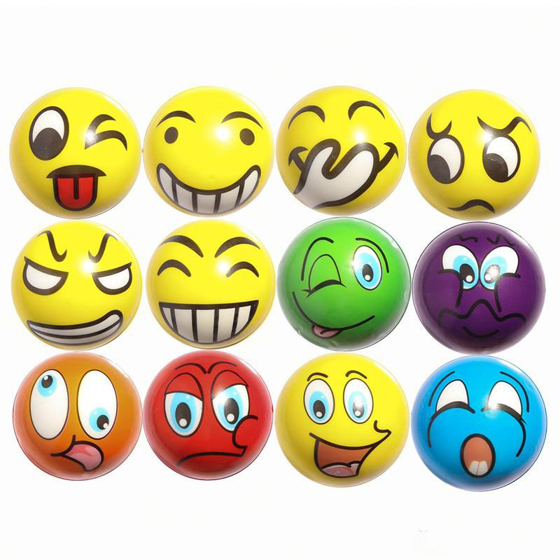 Upgrade Emoji Squeeze Toys Happy Face Angry Hand Stress ...