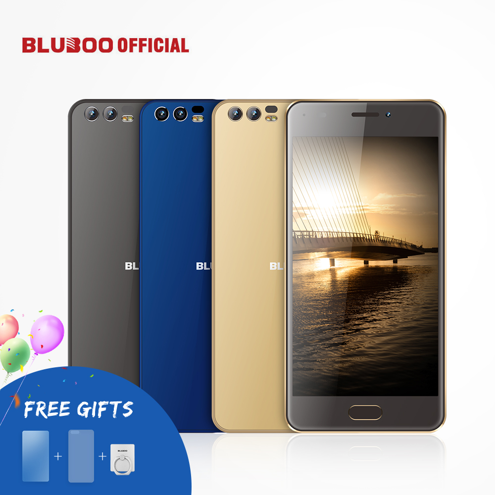 BLUBOO D2 5.2'' MTK6580A Quad Core Mobile Phone Android 6.0 1G RAM 8G ROM Cellphone Dual Rear Camera 3300mAh Smartphone