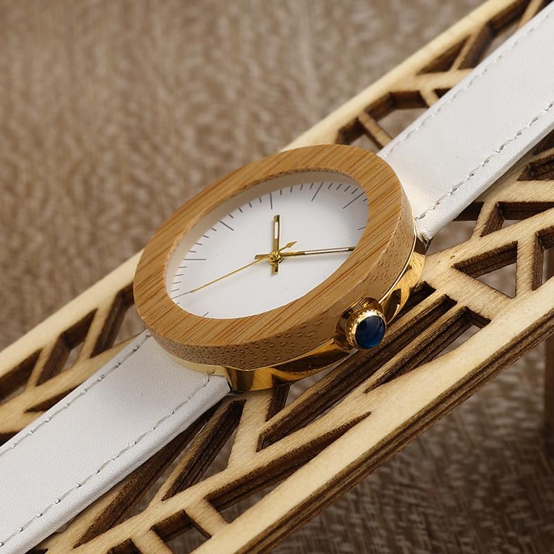 Women Bamboo Wood Watches Montre Femme Lady Quartz Wristwatch relogio feminino C-J27 (16)