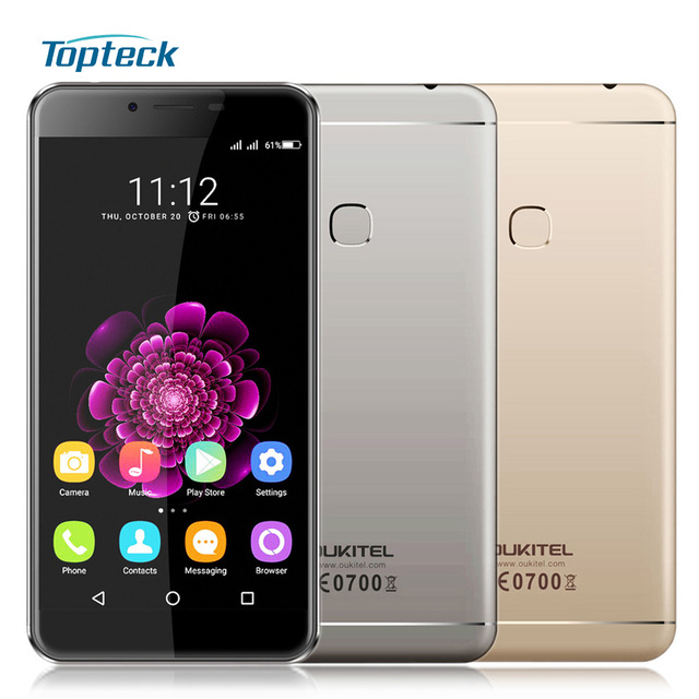 "In Stock OUKITEL U15S 4G 5.5"" 1080*1920 Fingerprint 4GB+32GB 16MP Smartphone Android 6.0 MTK6750T Octa Core 1.5GHz Mobile Phone"
