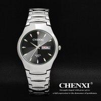 CHENXI Fashion Luxury Brand Women Watches Casual Quartz Silver Stainless Steel Ladies Wristwatches Calendar Waterproof Men