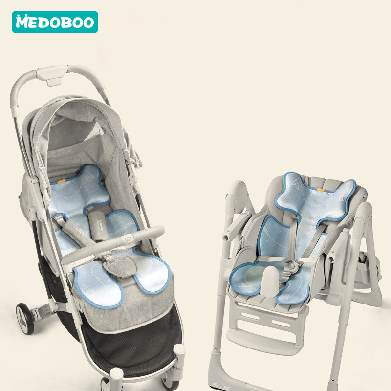 Medoboo Baby Umbrella Stroller Accessories Newborn Baby Stroller Cool Mat Cushion Dining Chair Seat Ice Silk Pad Breathable *