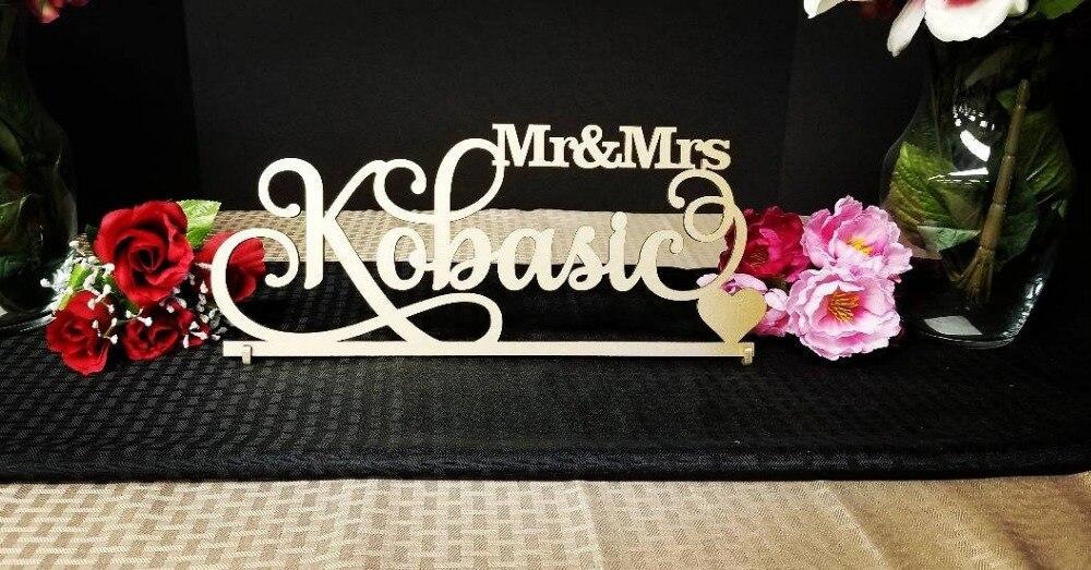 Personalized Custom Wedding Mr&Mrs Wooden Sign Wedding