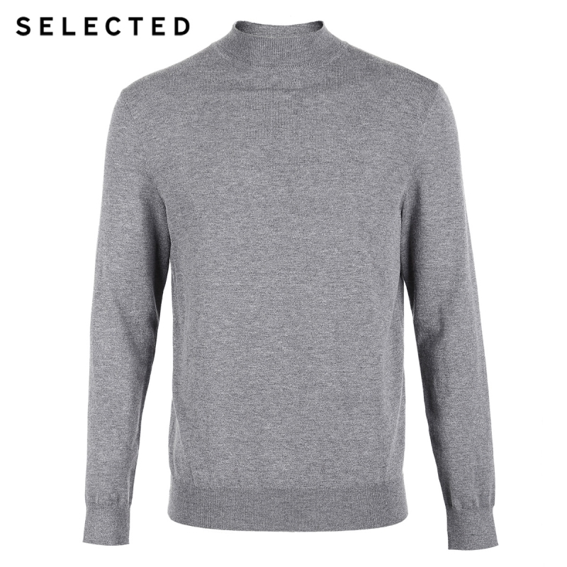 SELECTED Men 39 s Autumn Pure Color Mock Neck Base Knitted Sweater S 418424533 in Pullovers from Men 39 s Clothing