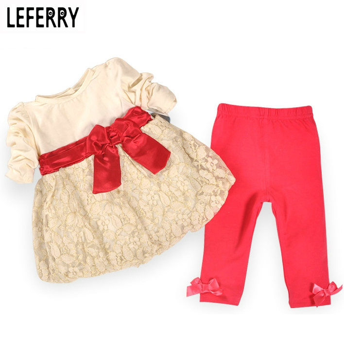 Long Sleeve Baby Girl Clothes Set Cotton Lace Baby Girl Clothing Sets High Quality Newborn Infant Clothing 2018 Spring New mother nest 3sets lot wholesale autumn toddle girl long sleeve baby clothing one piece boys baby pajamas infant clothes rompers