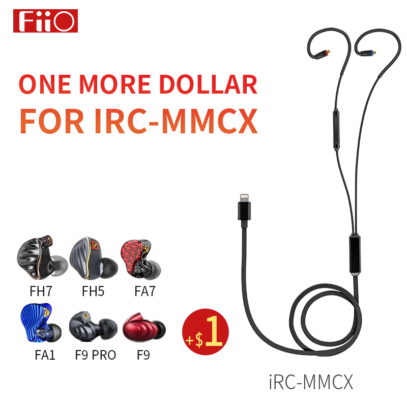 FiiO iRC MMCX Lightning Earphone Cable with Microphone for iPhone se 5s 6 7 8 x