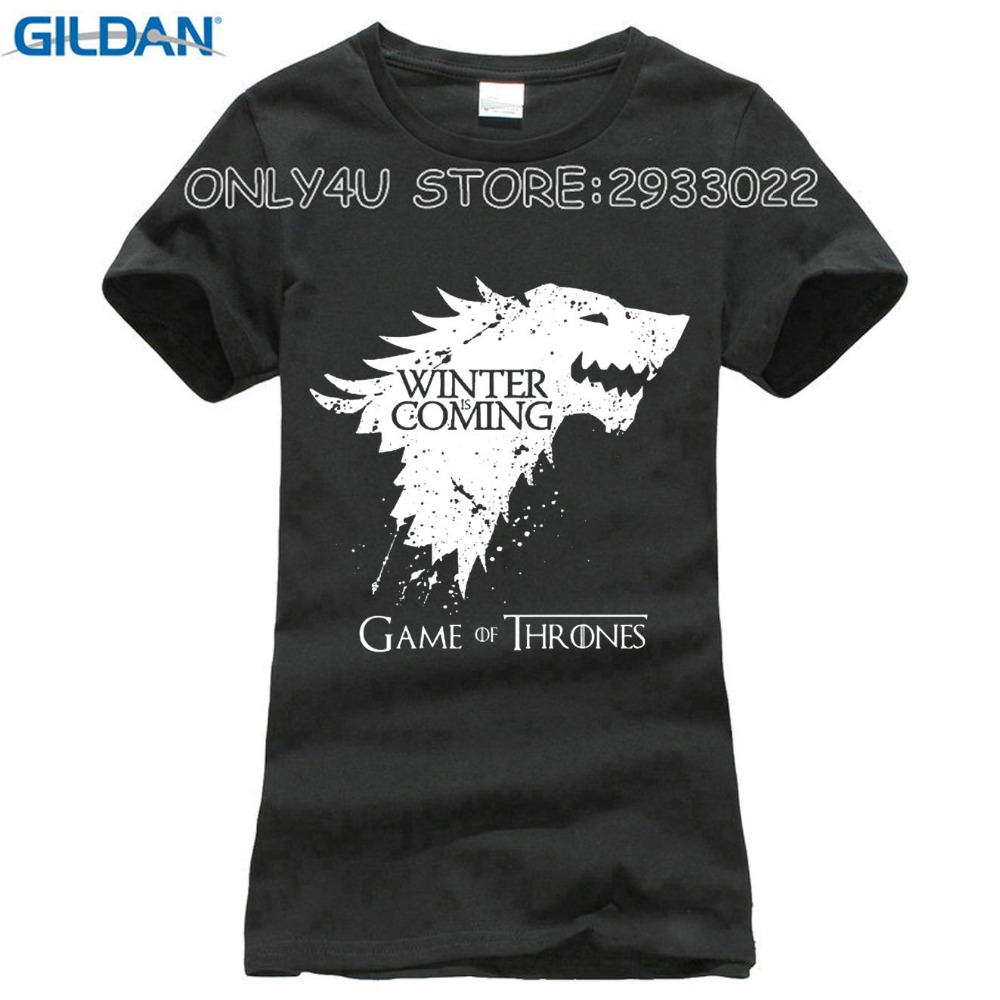89a2f1bdf986 Stark Cotton Short Sleeve Game Of Thrones T-Shirt Casual Cotton Tshirt Tops  Tees Winter