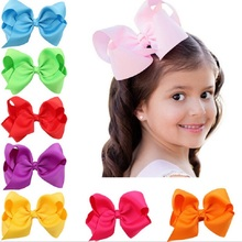 Oversize bow Clip Boutique Baby Girl Ribbon Bows Clips Hairpin Infant Girls Big Bowknot Clips Hairgrip
