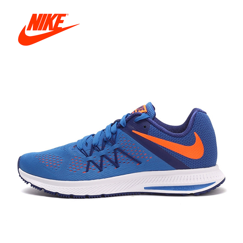 New Arrival Original NIKE Breathable ZOOM WINFLO 3 Men's Running Shoes Sneakers Outdoor Walking Jogging Sneakers nike original new arrival mens kaishi 2 0 running shoes breathable quick dry lightweight sneakers for men shoes 833411 876875