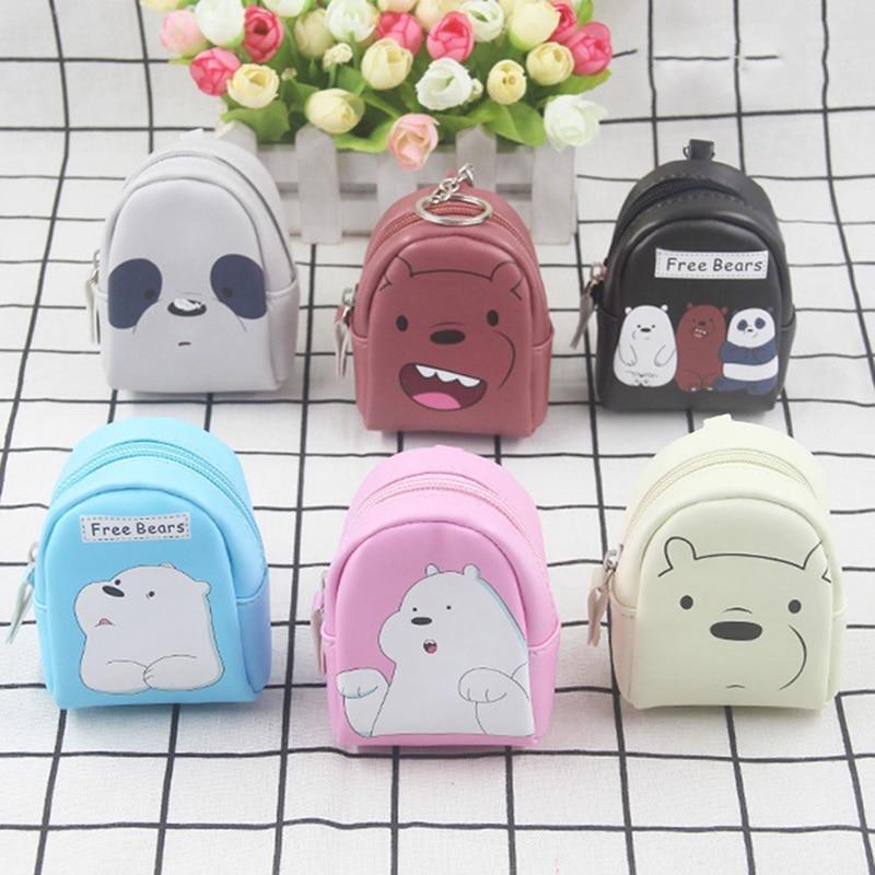 3D Panda Women Coin Key Holder Zipper Purse Wallet Pouch Money Change Bag 6A