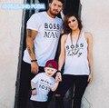 2017 Familia A Juego de Ropa de Verano ropa Traje de Algodón A Juego Camiseta de La Familia de Madre E Hija familia mirada padre hijo ropa