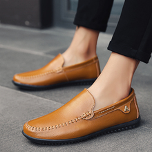 Brand Men Casual Shoes Leather Slip-on Men Shoes High Quality Comfortable Big Size Summer Zapatos Hombre