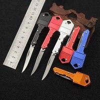 Pro Protable Key Fold Knife Key Pocket Knife Key Chain Knife Peeler Mini Camping Key Ring Knife Tool Knives