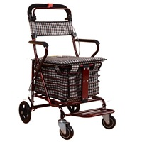 Multifunction Old man hand cart folding shopping carts shopping cart trolley Seats with adult Seats Storage space