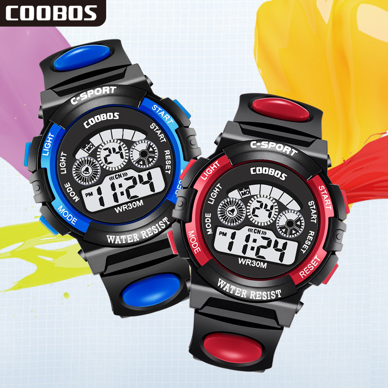 Cay Hot Fashion Children Watches Waterproof Week Date Students Boy Girl Sports Watch Electronic Kids Watch Clock