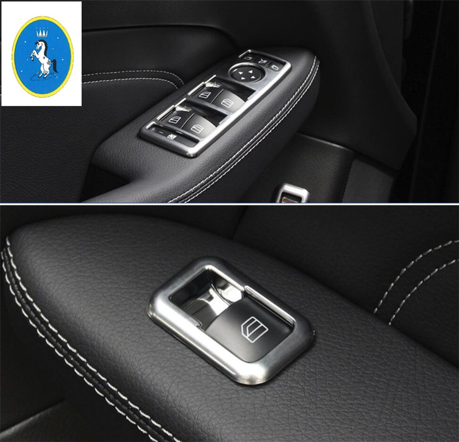 Accessories For Mercedes Benz A B Class 200 220 W117 C Class W204 E Class W212 Car Door Armrest Window Switch Control Cover Trim executive car