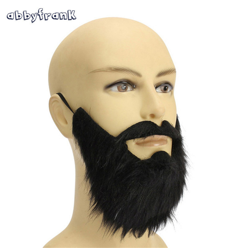 Abbyfrank Funny Black False Beards Moustaches Halloween Party Decoration Mask False-beard For Theatrical Prop Prank Cosplay Toys ...