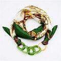 Patrón Impreso Diseñador Bufanda Del Silenciador Bufanda de Seda Ocasional de Las Mujeres de Acrílico Colgante de Múltiples Capas de la Bufanda de 2017 Mujeres de Lujo de La Bufanda