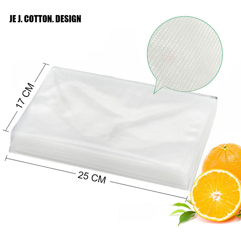100 Pieces/lot 17*25 CM Vacuum Packer Bags For Food Thick Grain 17*25CM Vacuum Sealer Packing Machine Bag Fast Shipping