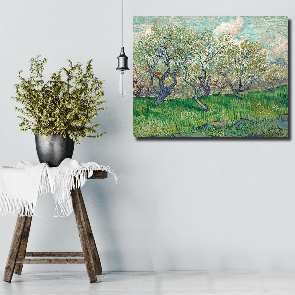 Landscape Trees in Blossom oil painting on Canvas wall picture for Living Room Home Decor Wall Art No framed