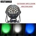 Высокая яркость LED par 18 6in 1/5in 1/4in1 Zoom RGBW светодиодный сценический свет с DMX512 для дискотеки DJ проектор машина украшение партии