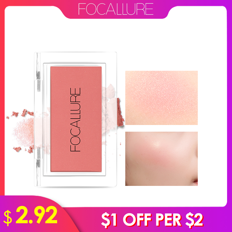 Focallure Blush Makeup Single Blush Face Cheek Nude Natural Pressed Powder Blusher Long Lasting Face Make up Cosmetic 2018 new focallure smooth glow cheek color blusher palette natural mineral makeup silky blush bronzer powder