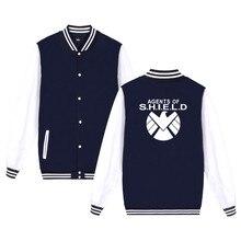 High Quality Fashion Brand Agents of S.H.I.E.L.D. Jacket Men Women Casual Clothing Punk Rock Coulson Baseball Uniform 3xl