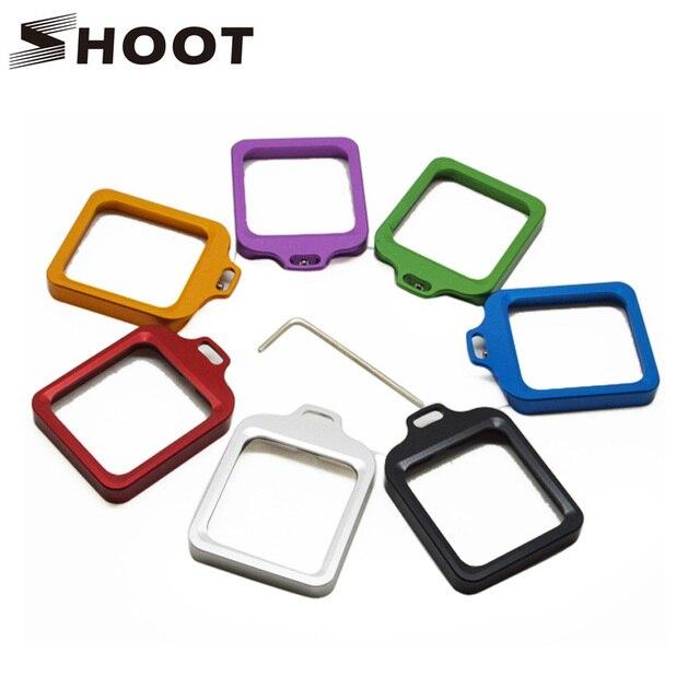 Стрелять 6 Цвет ЧПУ Alluminum сплав кольцо объектива крепление для GoPro Hero 3 + Водонепроницаемый Защитный чехол действие Камера с инструментом наборы
