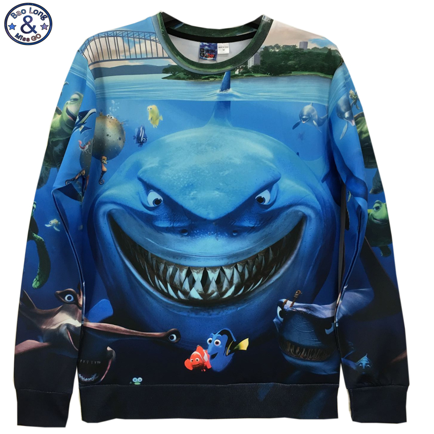 Mr.BaoLong brand new top design Funny JAW 3D Sweatshirt for youth men fashion pullover women can wear hoodies W10
