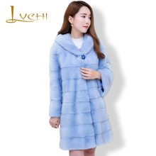 LVCHI 2019 New Queen Real fur Mink Coat For Women The Sable Long Fur The Mink Casual Coat Grass The Best Gift for Wife