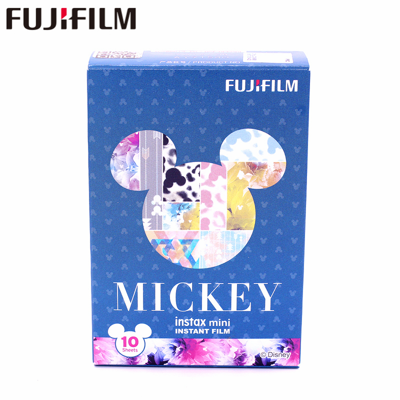 Original Fujifilm Fuji Instax Mini 8 New mickey mouse Film 10 Sheets For 7 8 9 50s 7s 90 25 Share SP-1 SP-2 Instant Cameras принтер лазерный brother hl 1110r