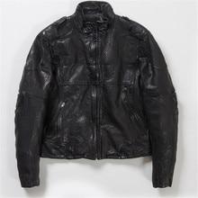 2017 NEW UGLYBROS Genuine Leather Jacket Motorcycle Locomotive Protective Jacket Men's moto Jacket Size S-3XL
