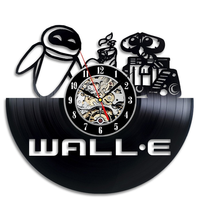 Wall E Vinyl Record Clock Decorate Your Home With Modern Large Art