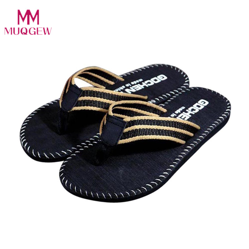 MUQGEW men shoes Summer Stripe Flip Flops Shoes Sandals slippers men Flip-flops man flip flop shoe house slippers men shoes fghgf shoes men s slippers kma