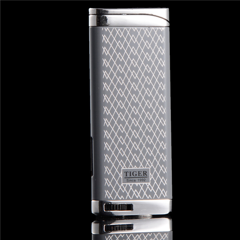 Ultra Thin Business Compact Jet Torch Butane Metal Cigar Pipe Turbo Lighter Pattern Cigarette 1300 C Fire Windproof NO Gas|Matches|   - AliExpress