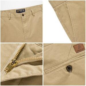 Image 5 - Мужские повседневные брюки Pioneer Camp, однотонные Стрейчевые классические брюки зауженного покроя, темно синего цвета и цвета хаки, одежда для мужчин размера плюс