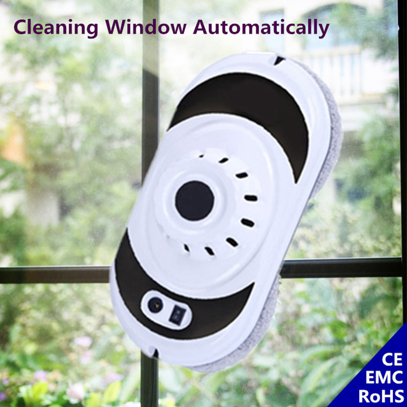 Smart Window Cleaning Robot Vacuum Cleaner Window Cleaner For Glass Table Floor Wall With Remote Control Uninterruptible Protect 2017 new gift with uv lamp remote control lcd display automatic vacuum cleaner iclebo arte and smart camera baby pet monitor