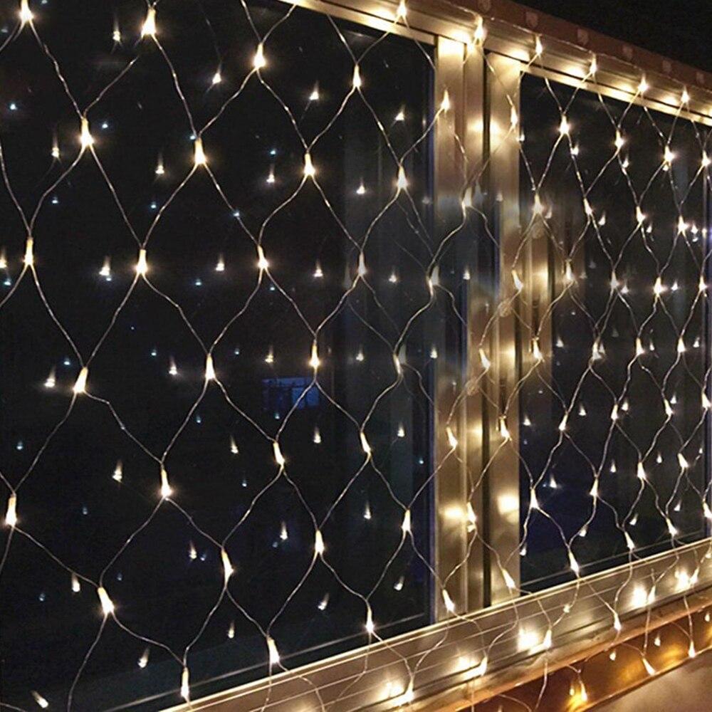 New LED Mesh Fairy Curtain Garlands Net String Lights 3M x2M 200LED LED Light Festival Decor