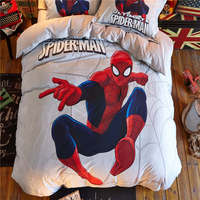 kids 3d printed bedding marvel spider man bedding single twin full queen size bed sheet set disney duvet cover boys home textile