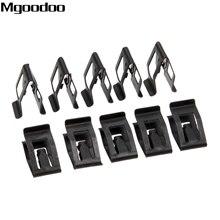 10 Uds. De remaches universales para salpicadero de coche, retenedor de Metal de ajuste automático, clip de sujeción negro para Ford, Mazda, Audi y Toyota