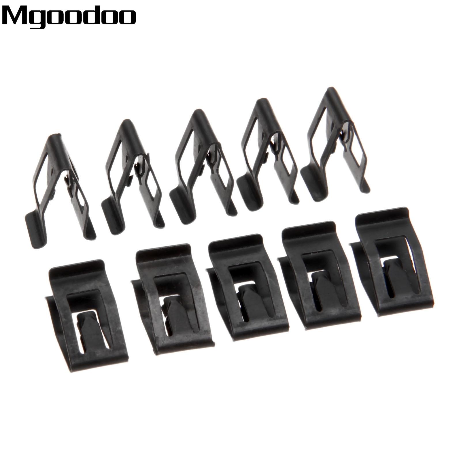 10pcs universal car front console dash dashboard auto trim metal retainer black rivet fastener. Black Bedroom Furniture Sets. Home Design Ideas